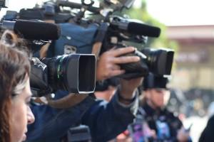 Close Up of Reporters' Cameras Image medium_3082476355