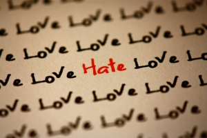 Love hate text