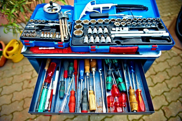 Photo of an open toolbox